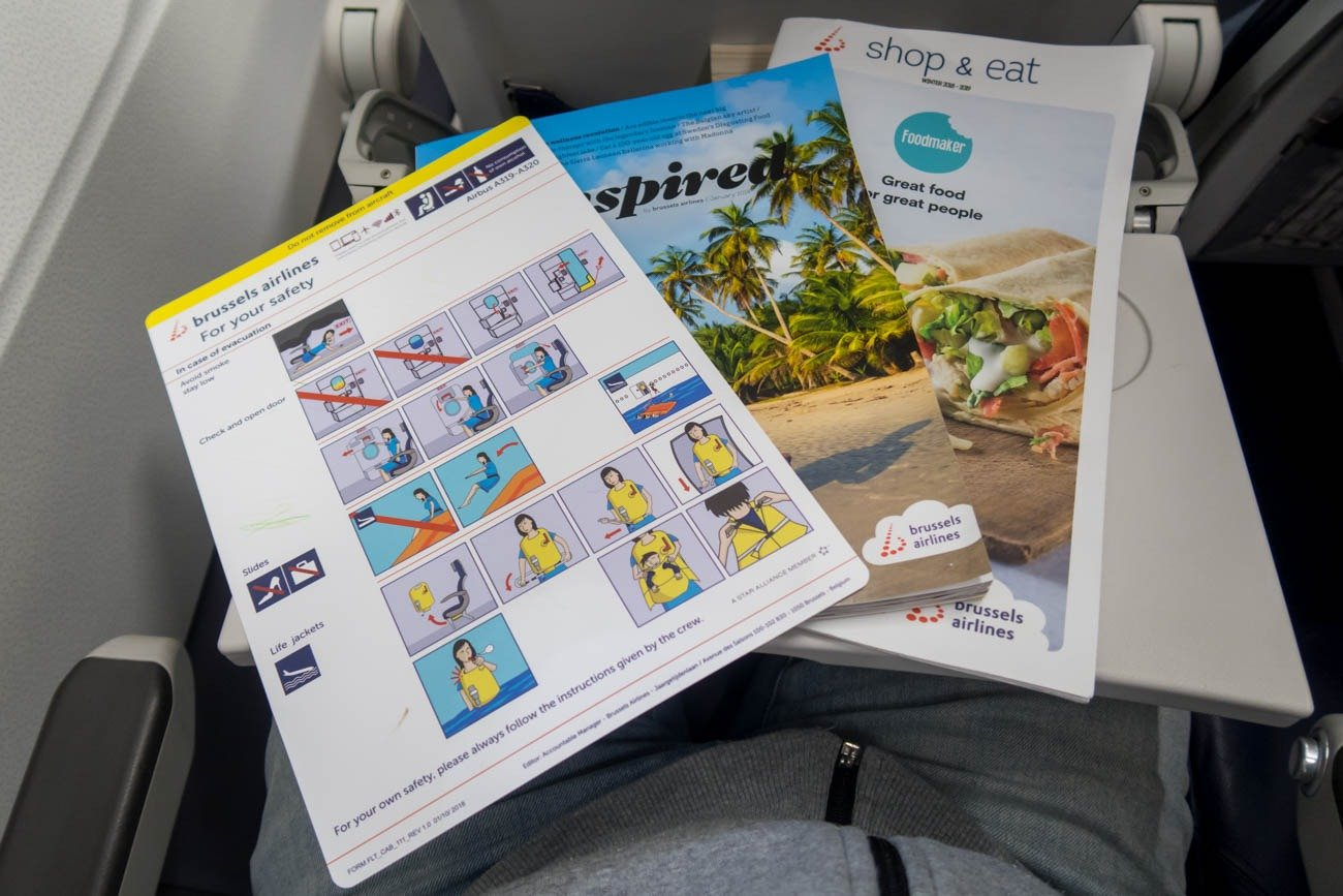 Brussels Airlines In-Flight Magazine and Safety Card