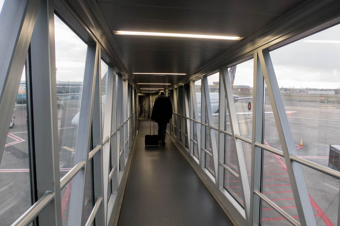 Boarding Brussels Airlines SSJ