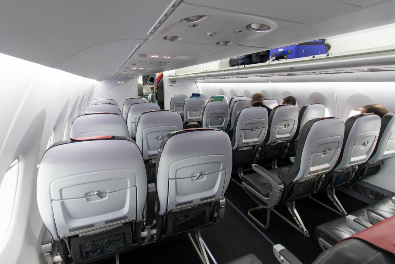 Brussels Airlines Sukhoi Superjet Cabin