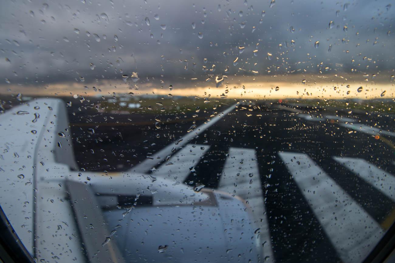 Entering Runway at Brussels Airport
