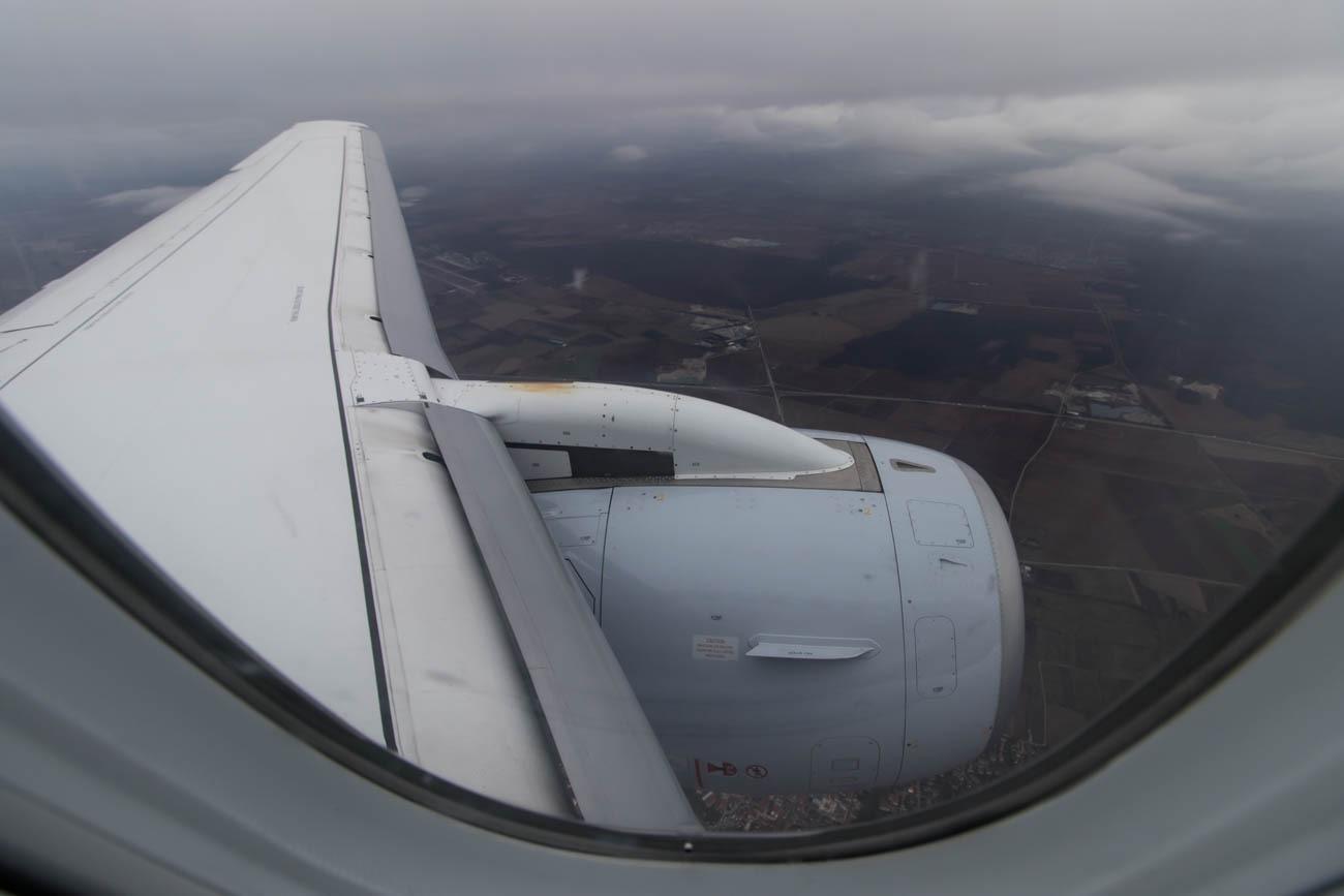 Descending Towards Basel Airport