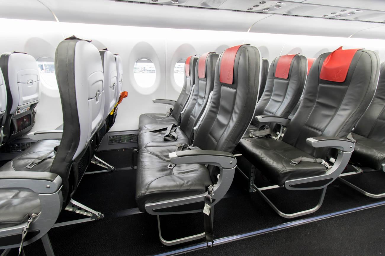 Brussels Airlines Sukhoi Superjet Seats