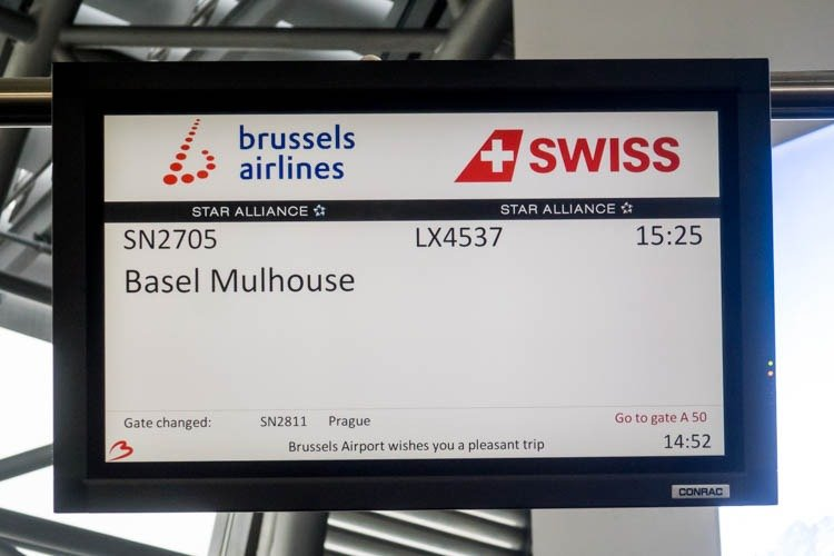 Flight SN2705 to Basel Mulhouse