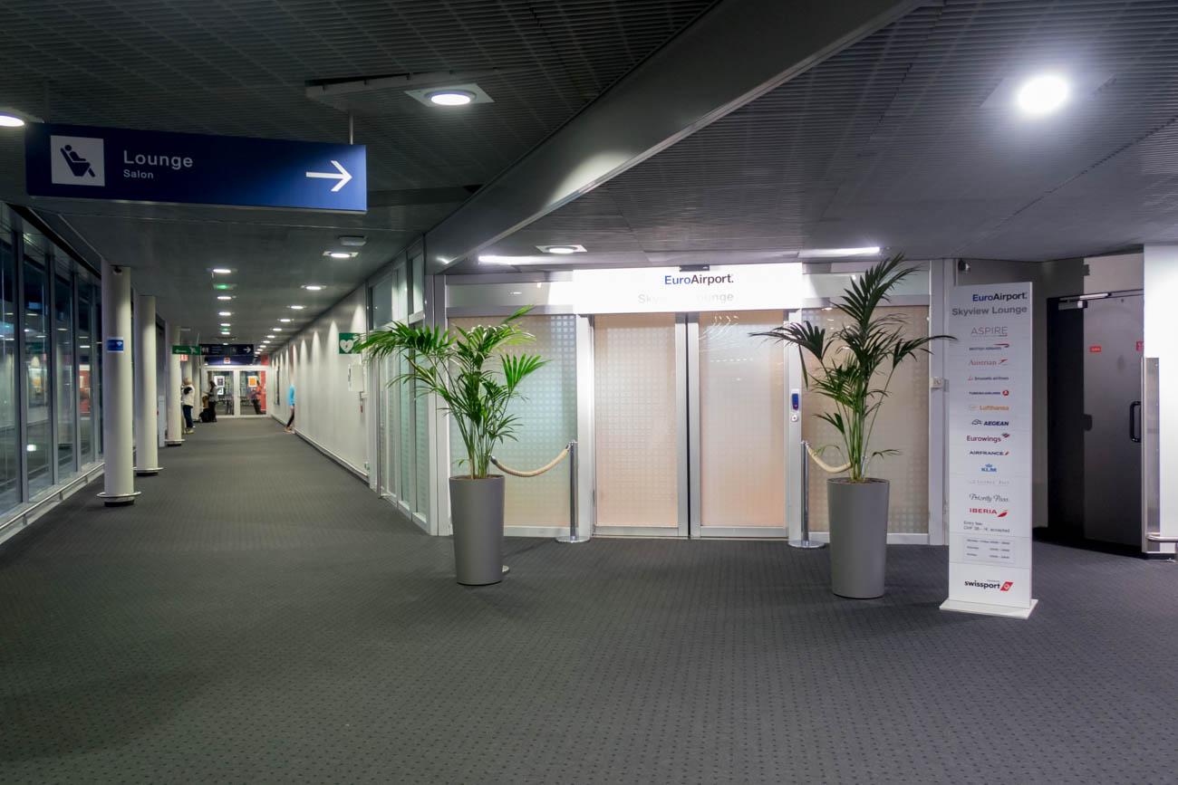 Basel EuroAirport Skyview Lounge Entrance