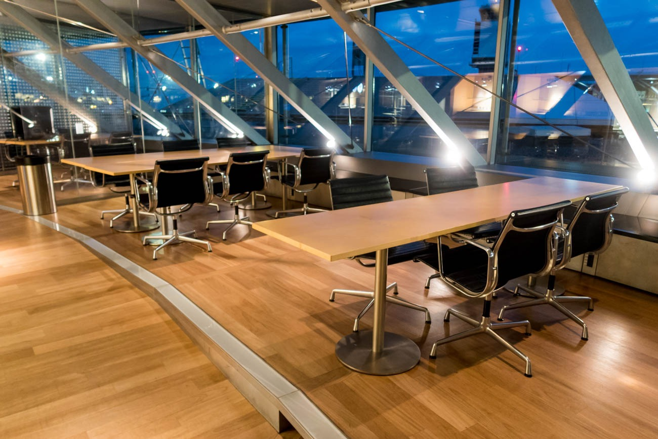 Basel EuroAirport Skyview Lounge Conference Tables