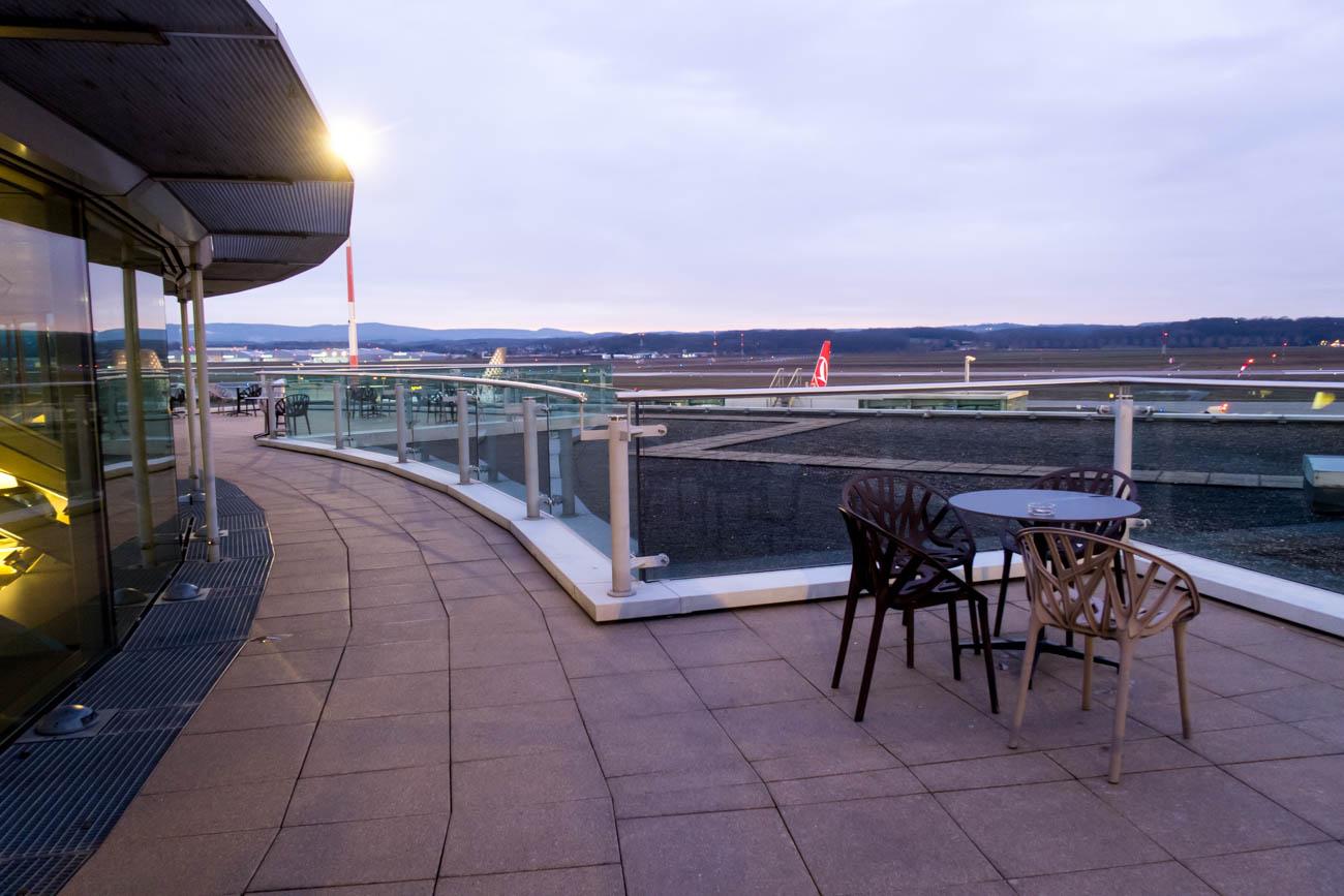 Basel EuroAirport Skyview Lounge Outdoor Terrace