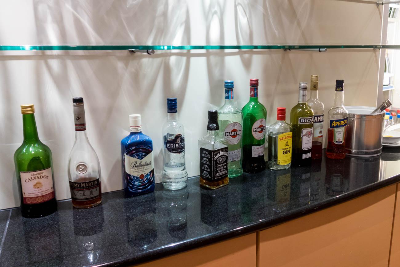 Basel EuroAirport Skyview Lounge Liquor