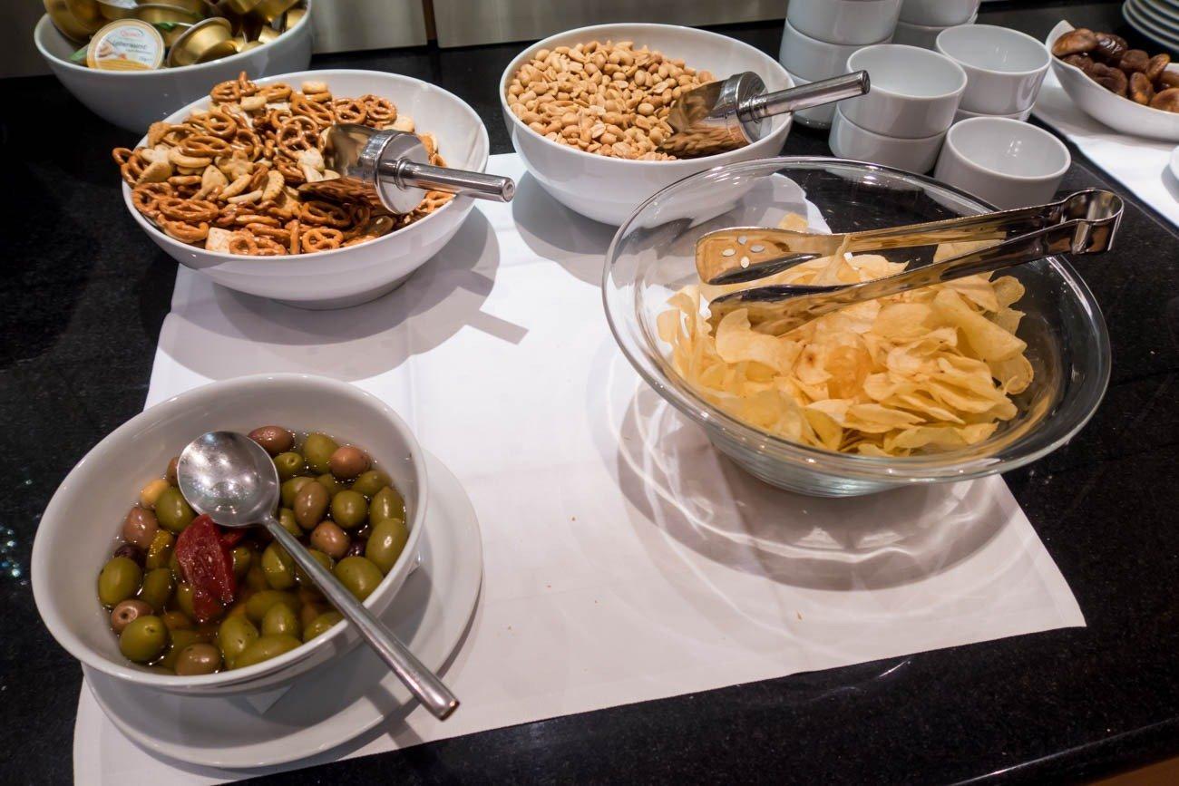 Basel EuroAirport Skyview Lounge Snacks
