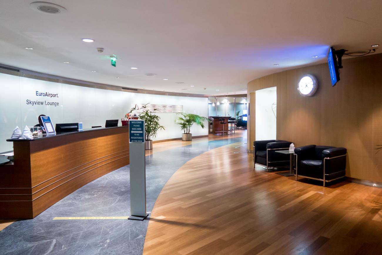 Basel EuroAirport Skyview Lounge Reception