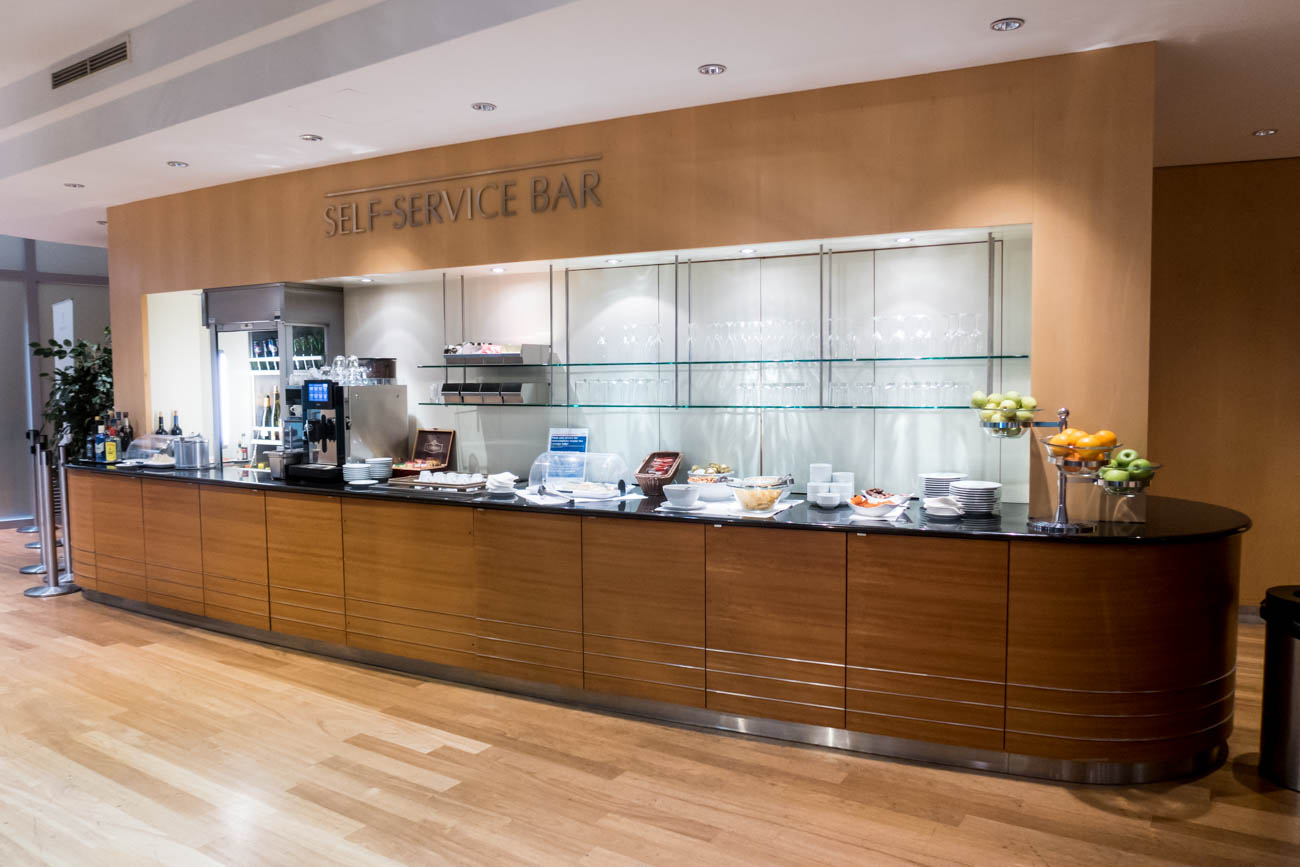 Basel EuroAirport Skyview Lounge Buffet