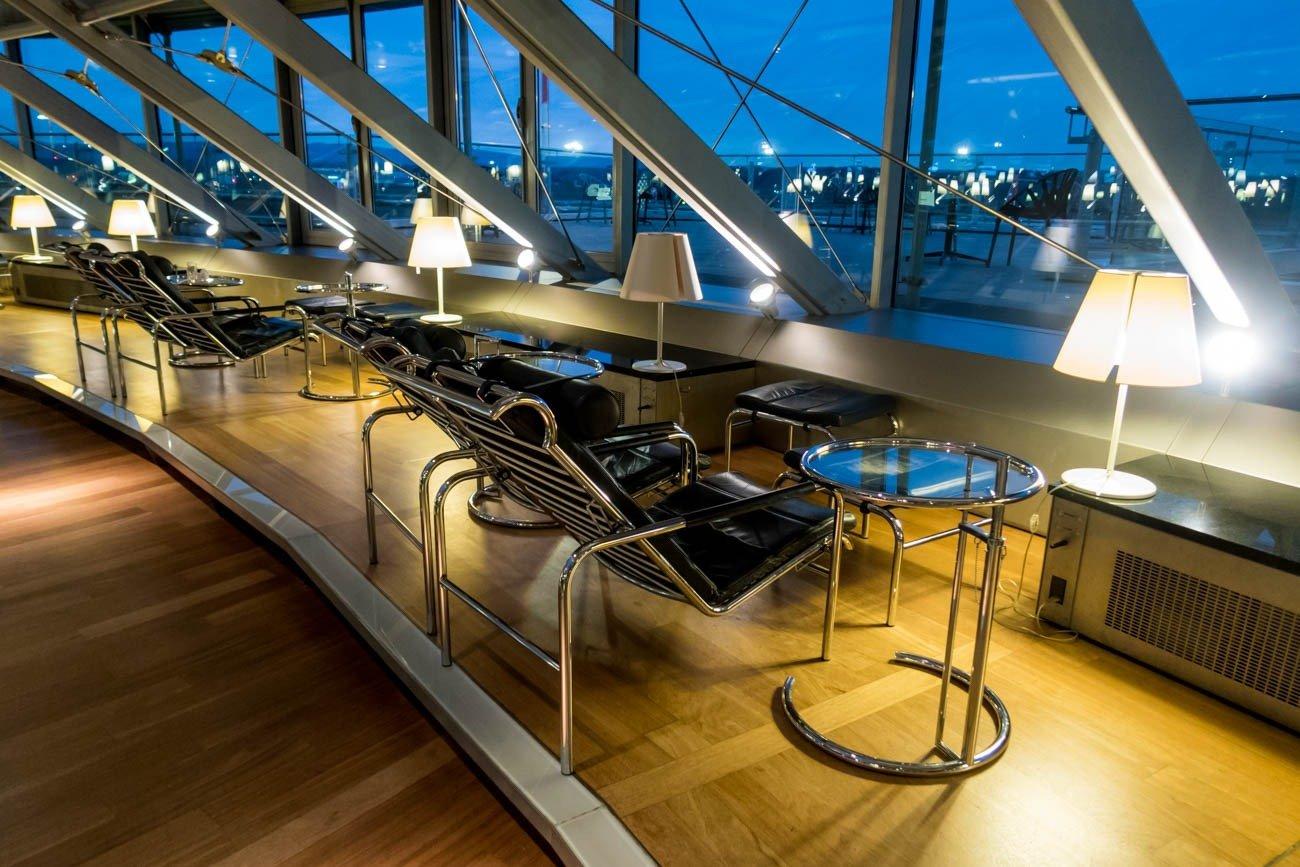 Basel EuroAirport Skyview Lounge Lounging Area