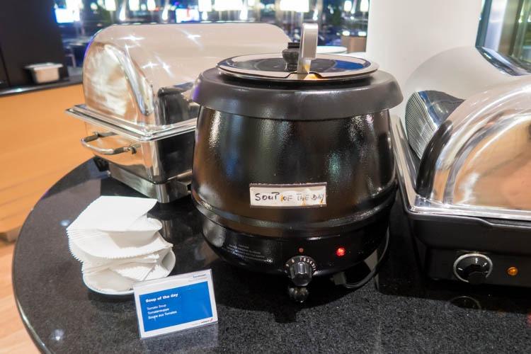 Basel EuroAirport Skyview Lounge Soup