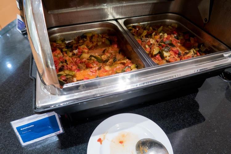 Basel EuroAirport Skyview Lounge Hot Meal