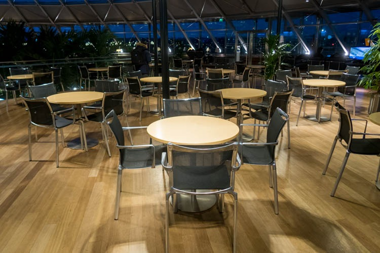 Basel EuroAirport Skyview Lounge Dining Area