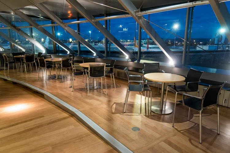 Dining Tables and Chairs in EuroAirport Skyview Lounge