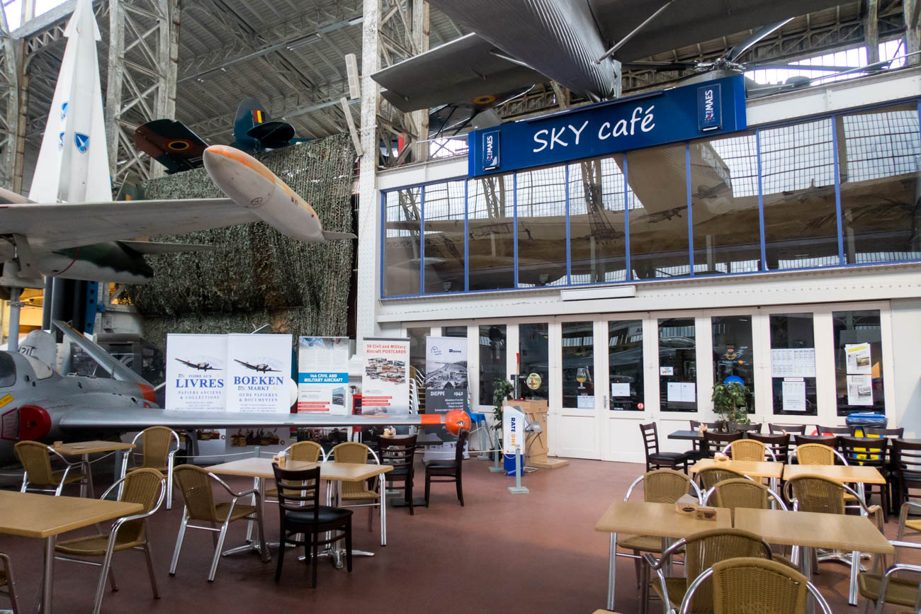 Sky Cafe in the Royal Museum of the Armed Forces and Military Hi