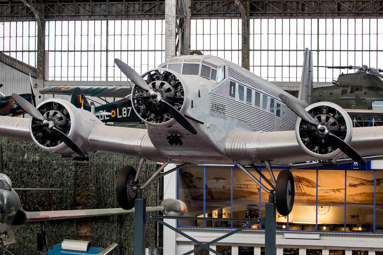 Junkers Ju-52 in the Royal Museum of the Armed Forces and Milita