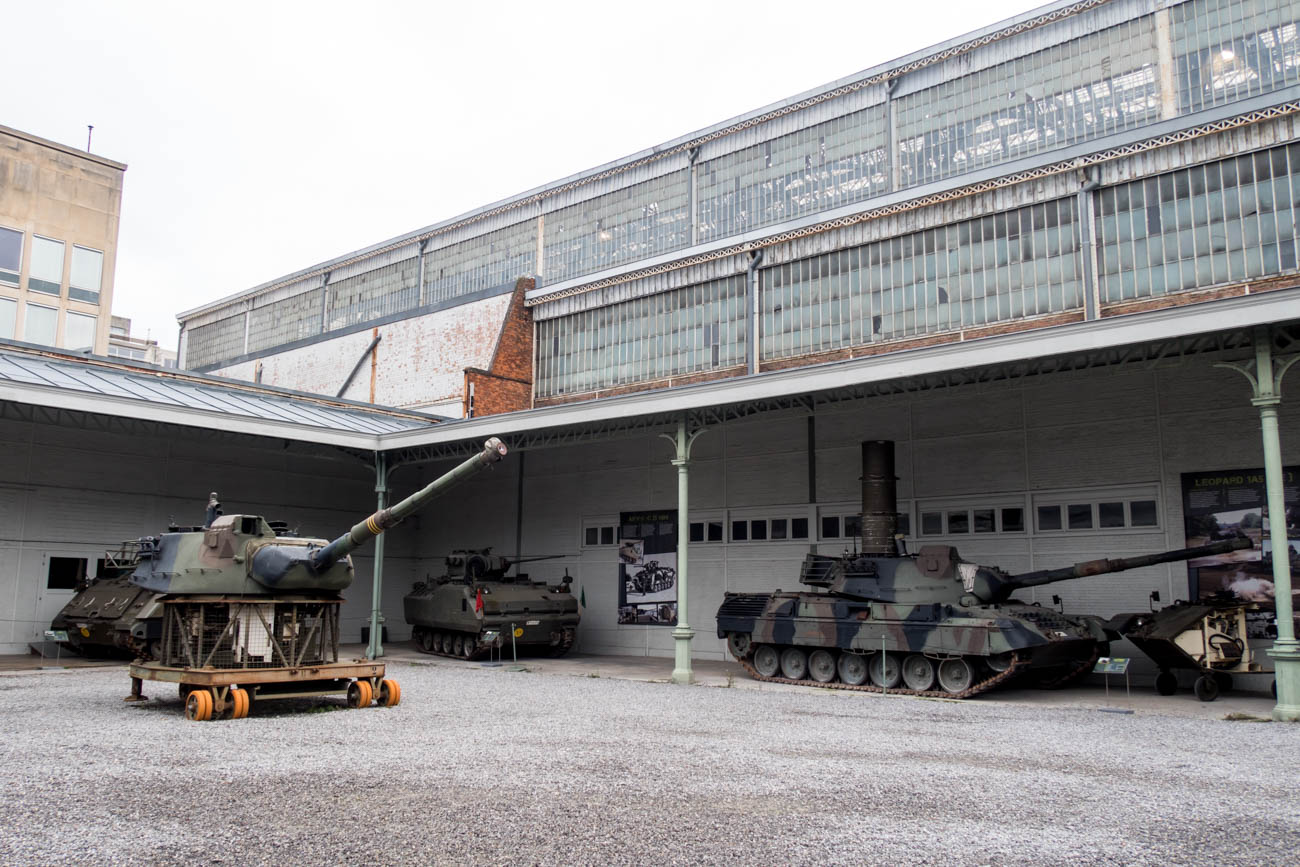 Tanks Exhibit in the Royal Museum of the Armed Forces and Milita