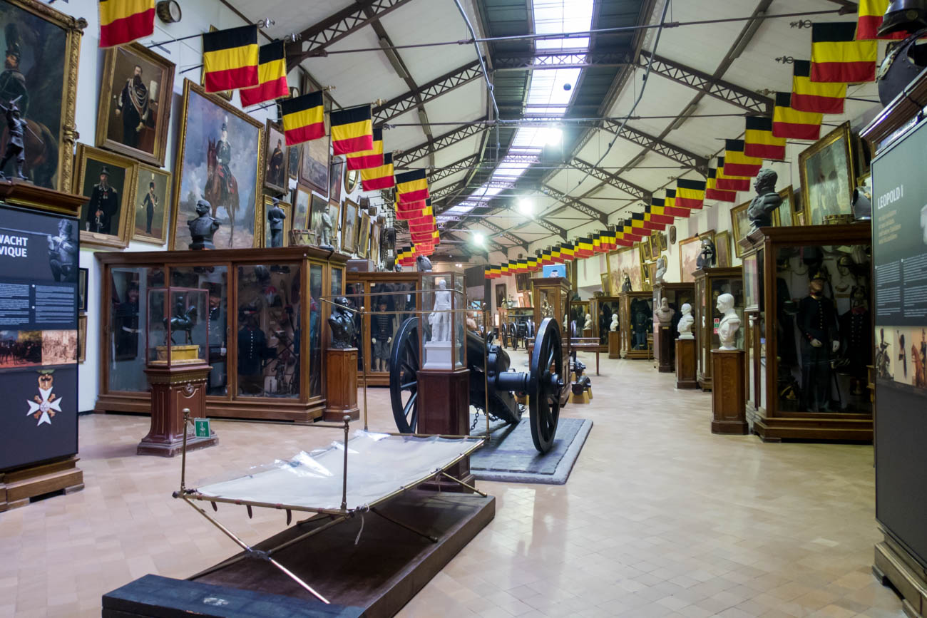 Historic Gallery in the Royal Museum of the Armed Forces and Mil