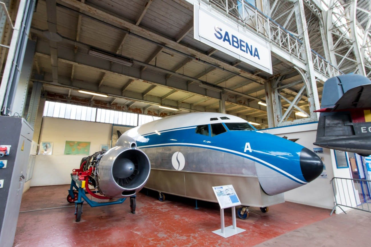Sabena Boeing 737-200 in the Royal Museum of the Armed Forces an
