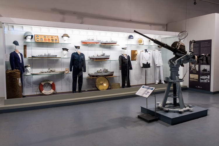 Navy Exhibit in the Royal Museum of the Armed Forces and Military