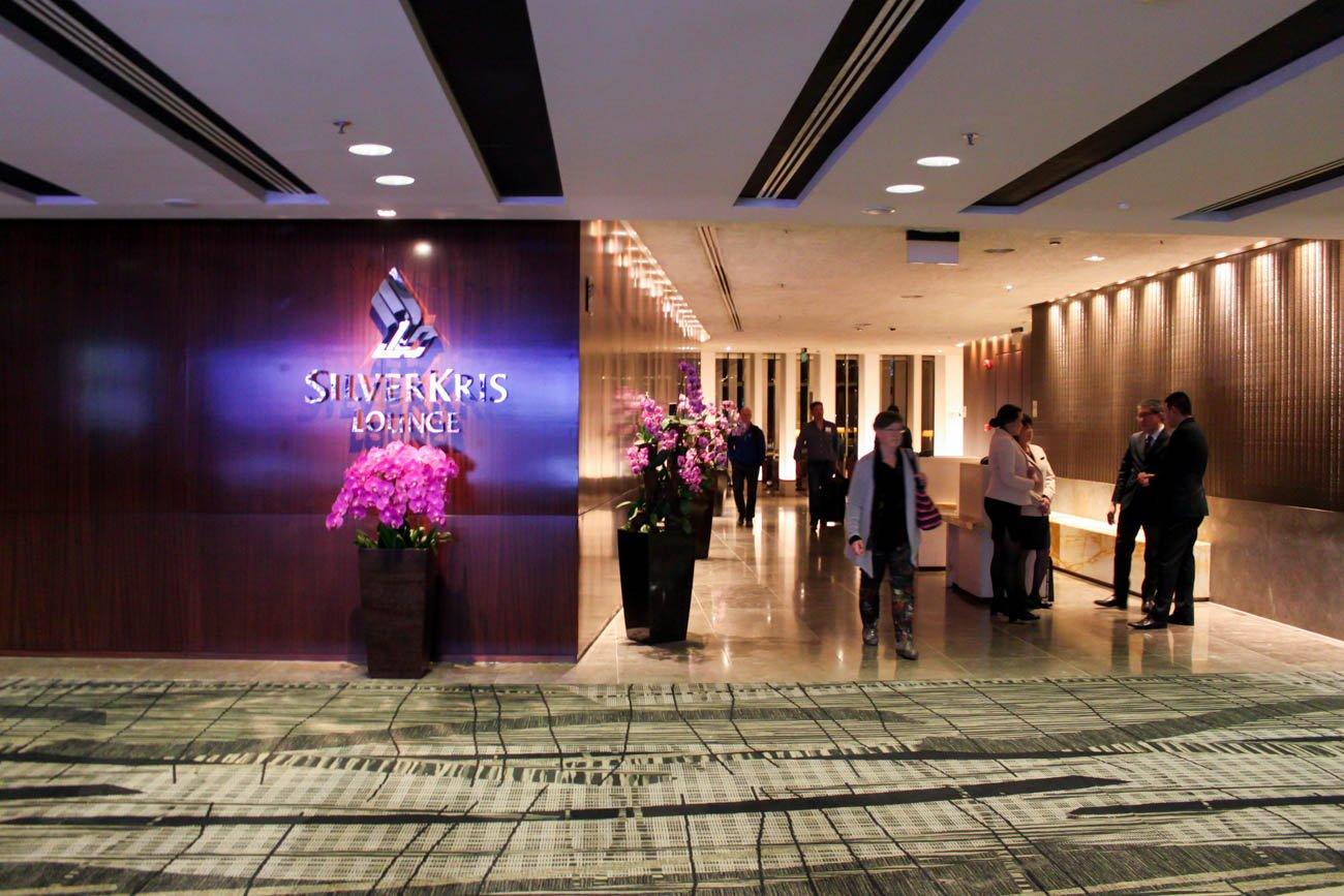 Singapore Airlines SilverKris Lounge Entrance