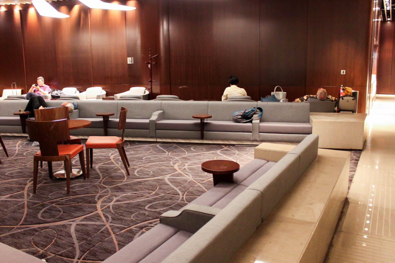 Singapore Airlines SilverKris Business Class Lounge Sleeping Are