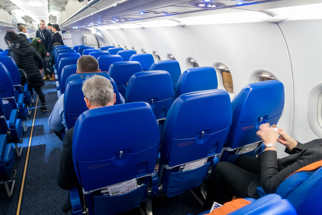 Aeroflot Airbus A321 Cabin
