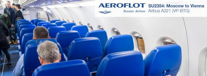Review: Aeroflot A321 Economy Class from Moscow to Vienna