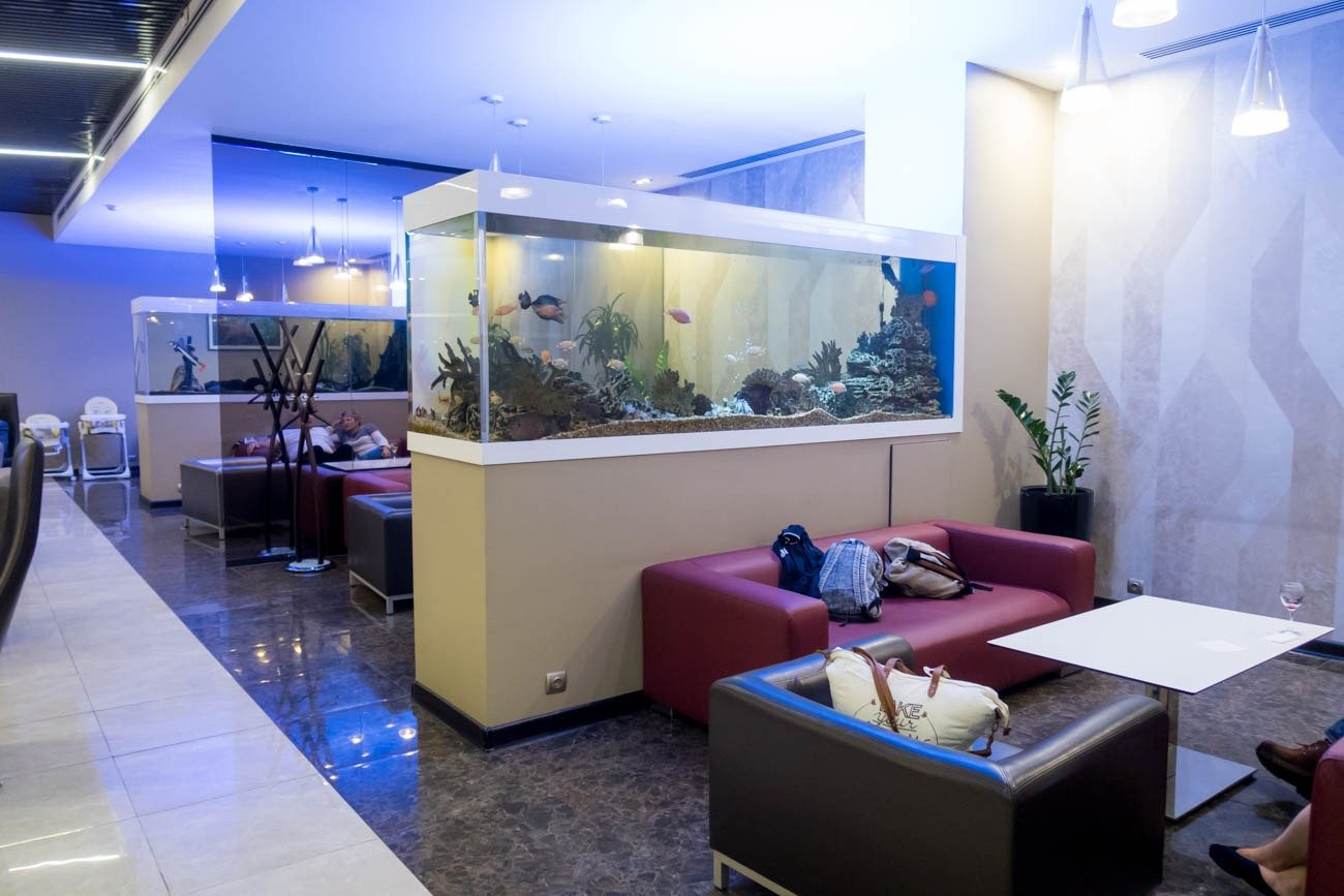 Fish Tanks in Aeroflot's Moscow Sheremetyevo All Star Lounge