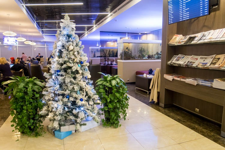 Christmas Tree at Moscow All Star Airport Lounge