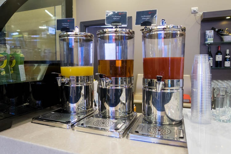 Juices at Moscow Sheremetyevo All Star Lounge