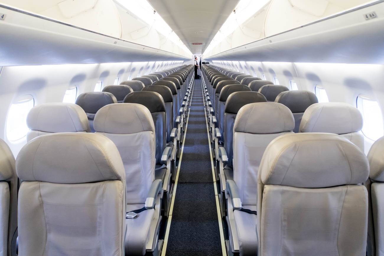 LOT Polish Airlines Embraer EMB-195 Cabin