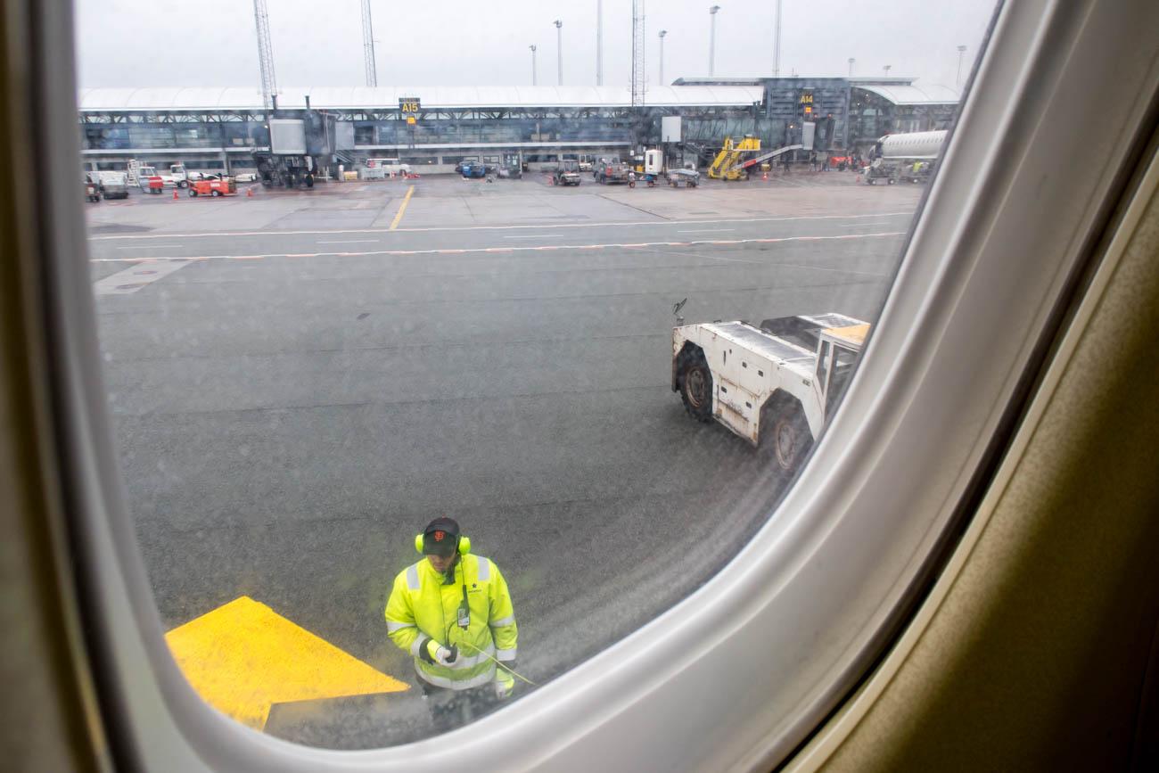 Push Back at Copenhagen Airport