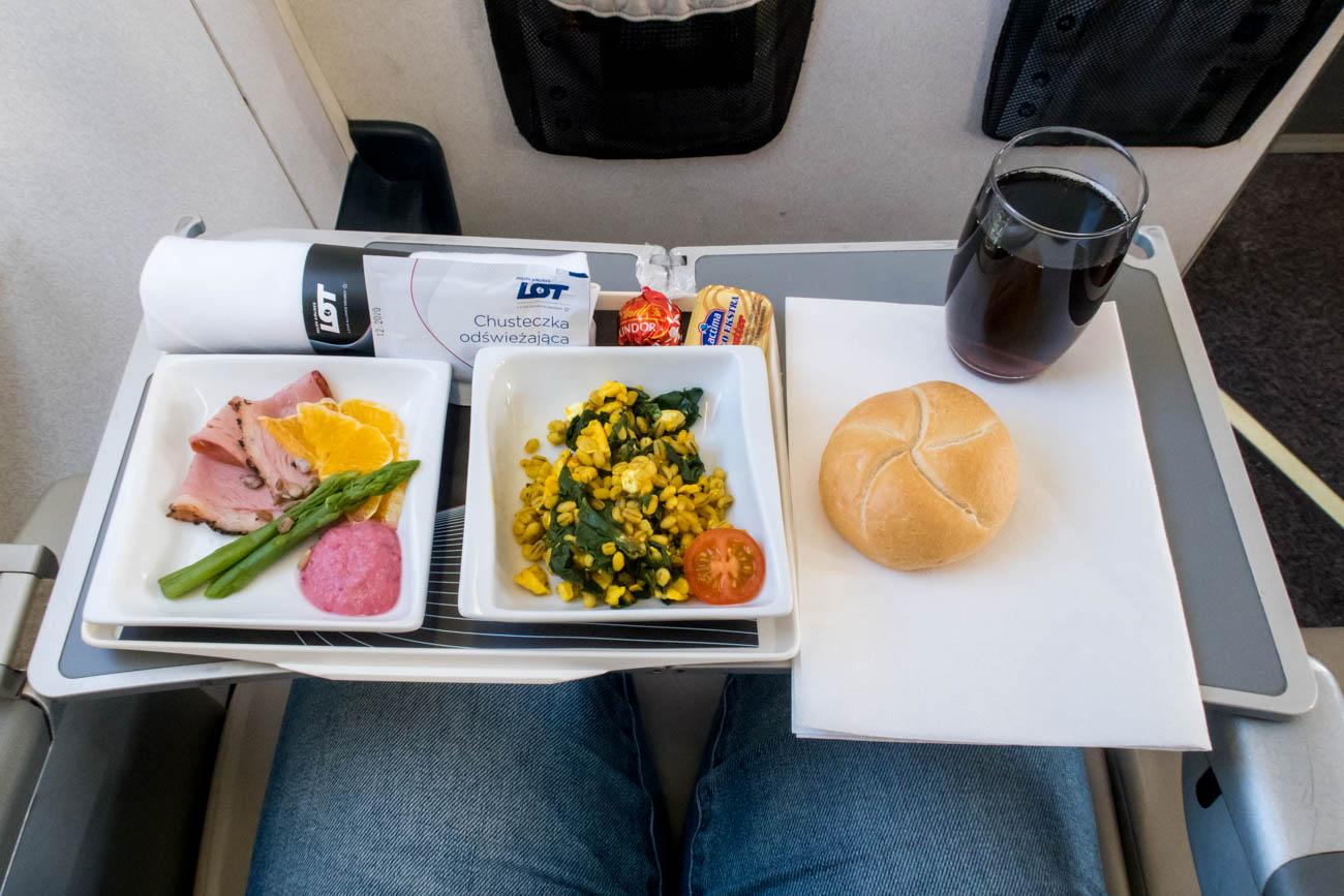 LOT Polish Airlines Short-Haul Business Class Breakfast
