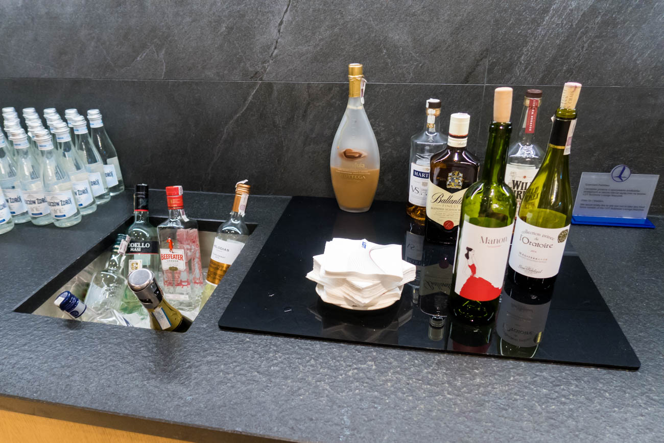 LOT Business Lounge Mazurek Warsaw Wine and Liquor