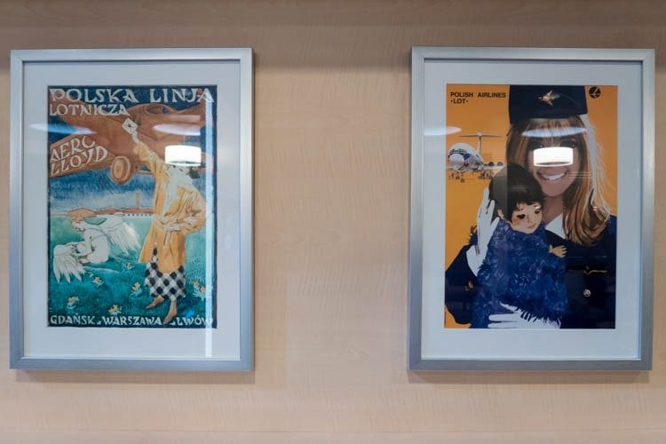 Retro LOT Posters in Polonez Lounge