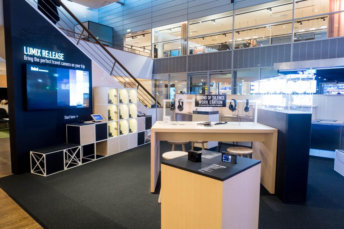 Panasonic Showroom in SAS Lounge