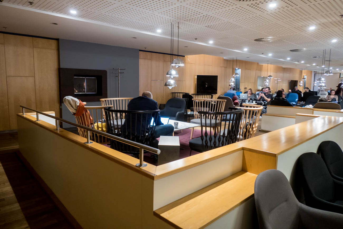 SAS Lounge Copenhagen Seating Area