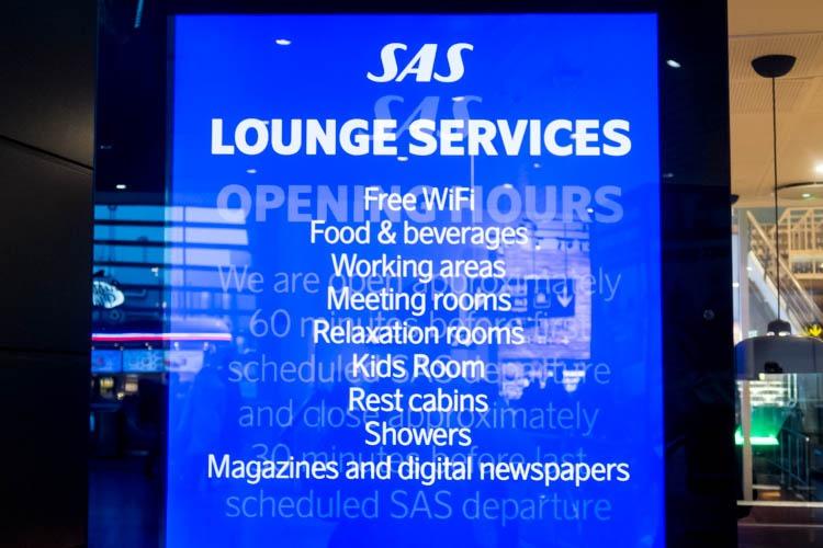 SAS Lounge Services