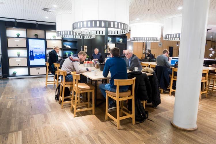 SAS Business Class Lounge Dining Area