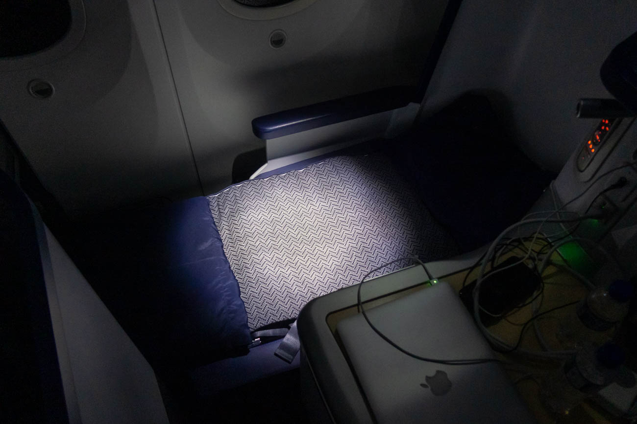 ANA Boeing 787-9 Business Class Seat in Bed Mode