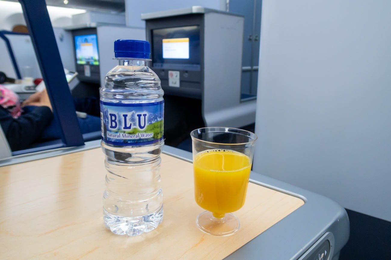 ANA Business Class Welcome Drink