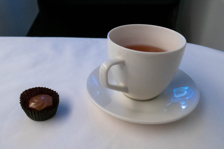 ANA Medium-Haul Business Class Tea and Chocolate