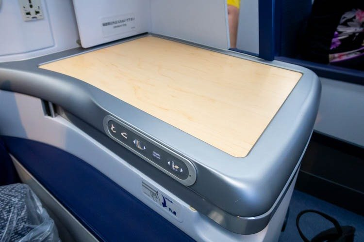 ANA 787-9 Business Class Seat Counter