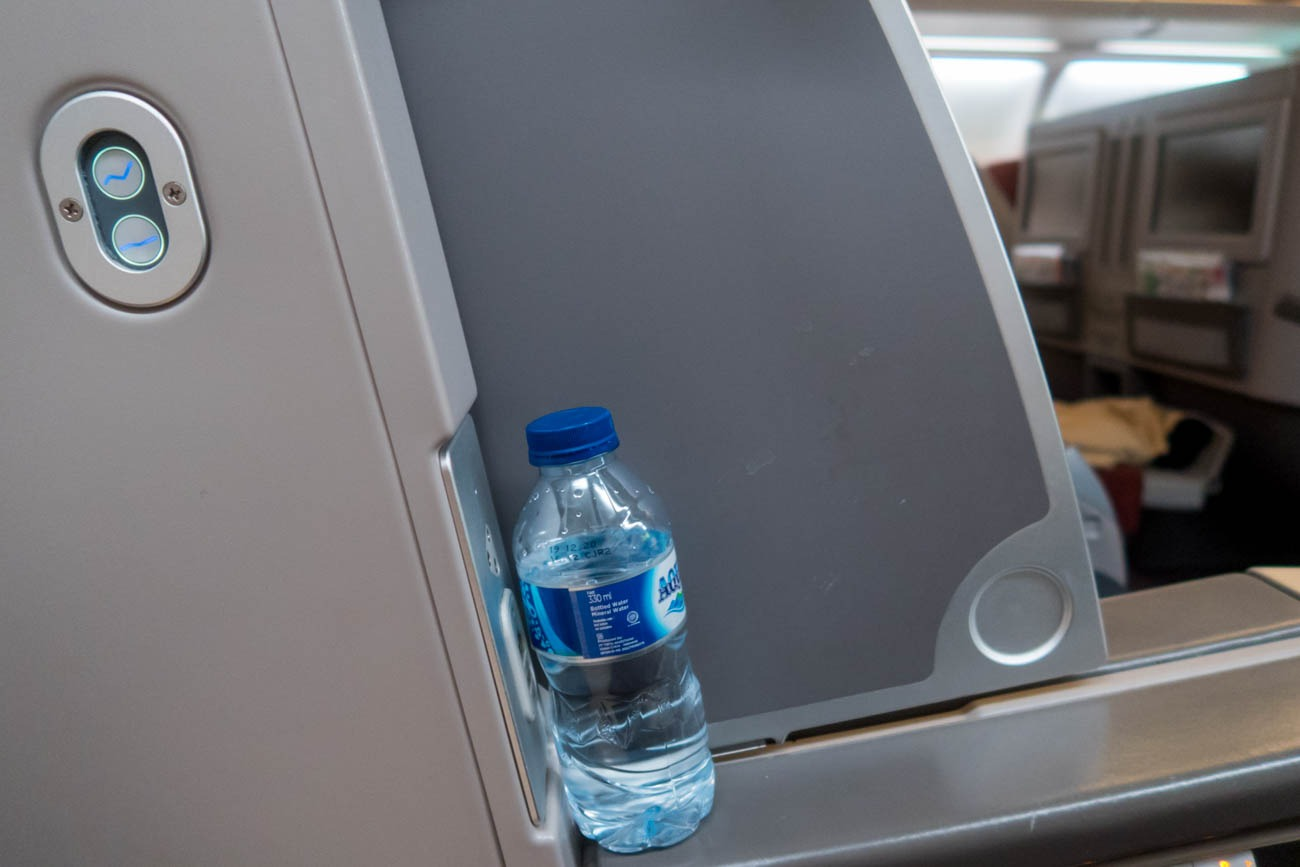 Garuda Indonesia A330-300 Business Class Seat in the Lie-Flat Po