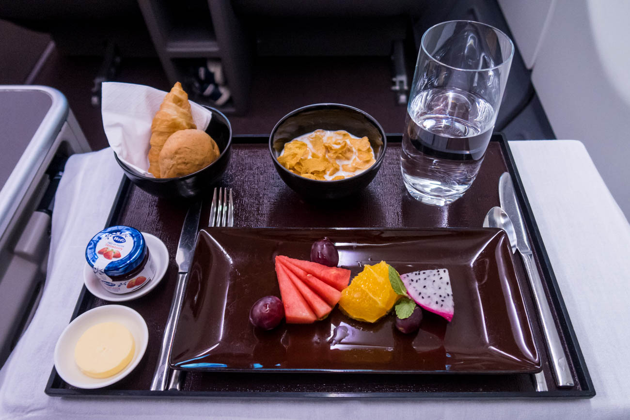 Garuda Indonesia Business Class Breakfast