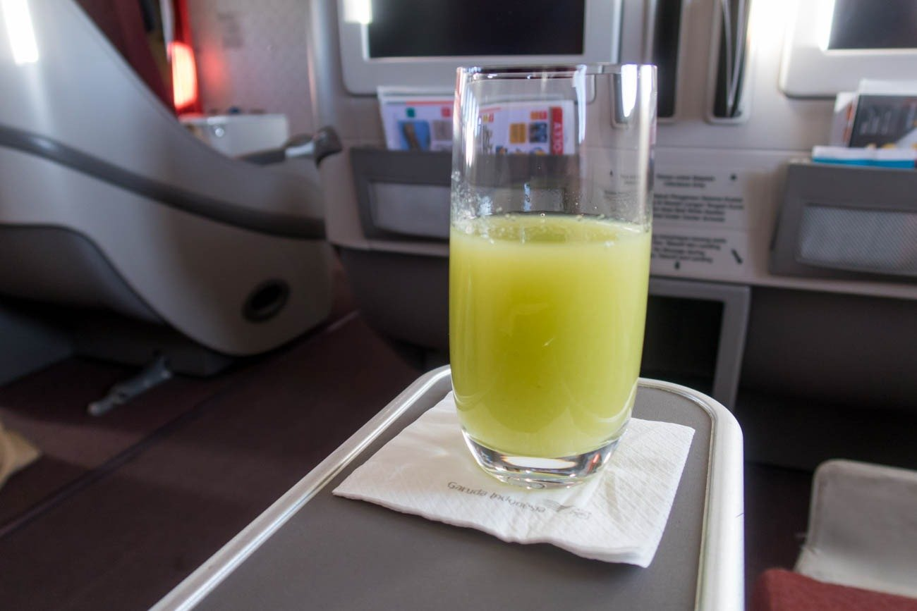 Garuda Indonesia Business Class Fresh Ambarella Juice