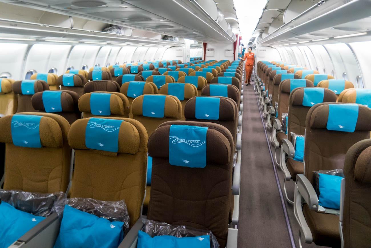 Garuda Indonesia Airbus A330-300 Economy Class Cabin