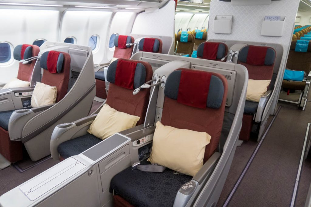 Garuda Indonesia Airbus A330-300 Business Class Cabin
